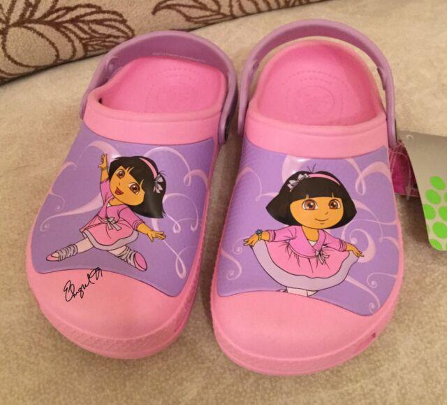 28dd86af9 Crocs CC Dora Ballet Clog Carnation Kids Girls Slingback Size 1 M ...