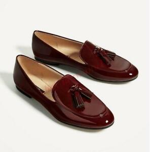 British Tassel Women Loafers Slip On Fashion Shiny Leather Flat New ...