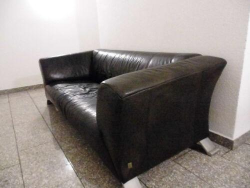 ROLF BENZ 322 Sofa Leder schwarz gebraucht Klassiker - EUR 350,00 ...