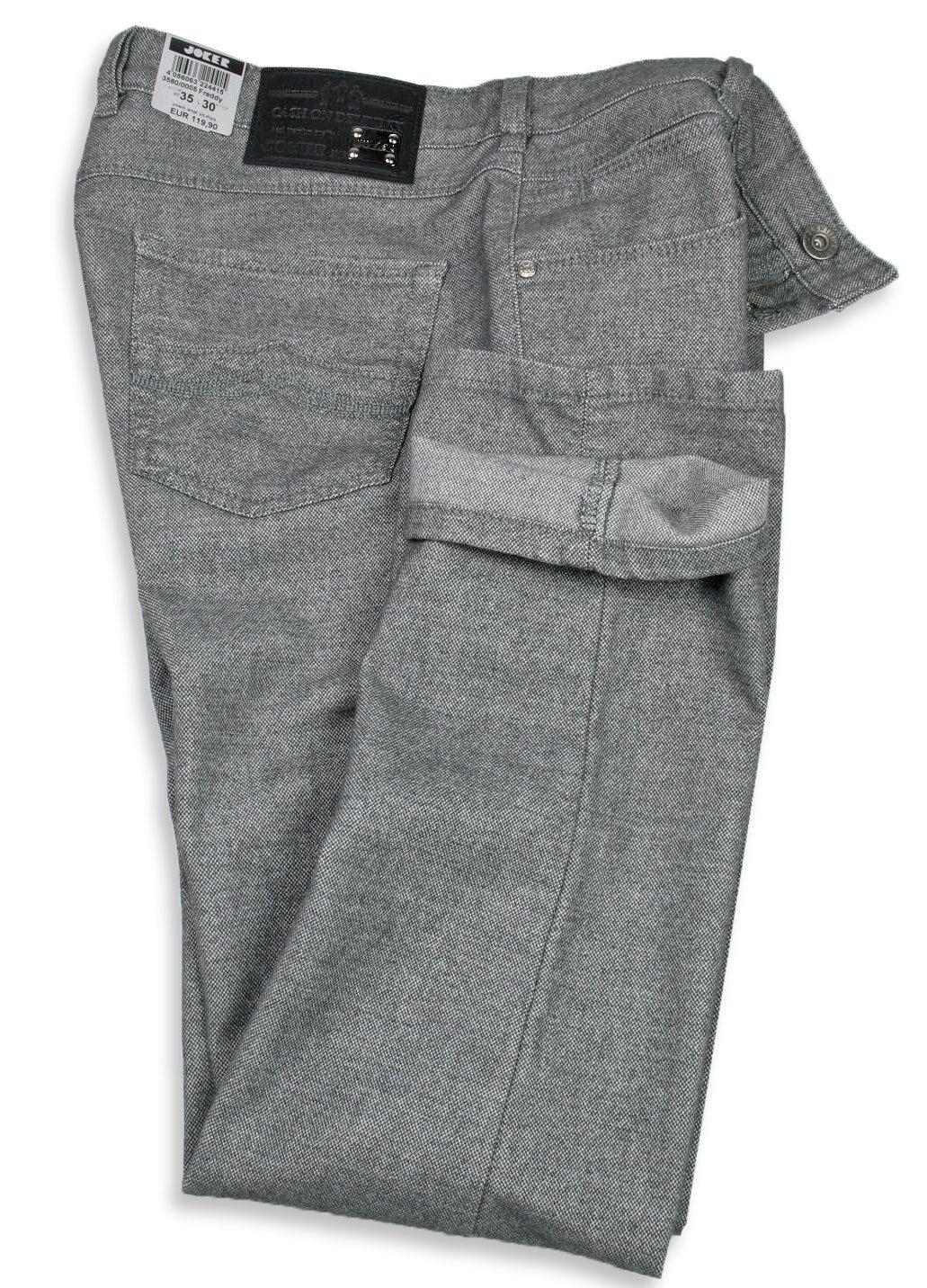 Nouvelle génération, dy nouveau choix Joker Jeans FRouge dy génération, (Coupe Droite) Mélange Gris 3580/0005 Tweed Coton d7aae3