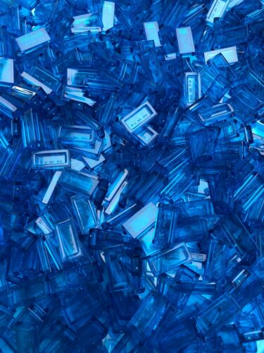 Part 3069 // 3069b LEGO 50 x NEW Tiles 1x2 Trans Dark Blue City Moc Part Water