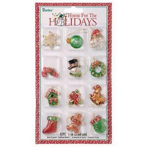 Miniature-Traditional-Resin-Christmas-Tree-Ornaments-Set-New