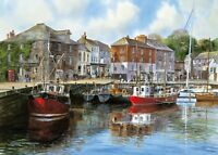 GIBSONS PADSTOW HARBOUR 1000 PIECE JIGSAW PUZZLE TERRY HARRISON - NEW - G476