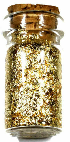 3 JARS 24K GOLD FLAKES 2 1 OUNCE .999 COPPER $500 WILLIAM MCKINLEY BANKNOTE