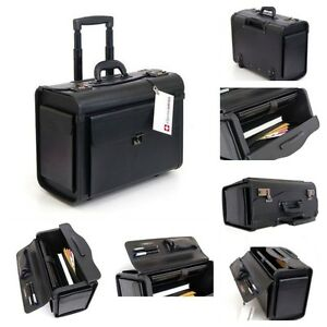 18252b4bc591 Image is loading Rolling-Laptop-Bag-Large-Wheeled-Briefcase-Travel-Business-