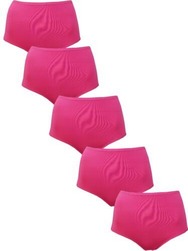 5 PACK LADIES EX MARKS /& SPENCER NO VPL FULL BRIEFS MICROFIBRE 12 COLOURS EX M/&S