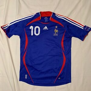 newest collection d913c 88ce9 Details about ADIDAS Zidane #10 2006 World Cup Mens France Soccer Jersey  (Sz M)