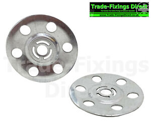Metal Insulation Discs 35mm Washers For Plasterboard Wall Ceiling Fixings