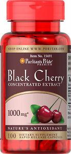 Puritan-039-s-Pride-Black-Cherry-1000-mg-100-Capsules-free-shipping