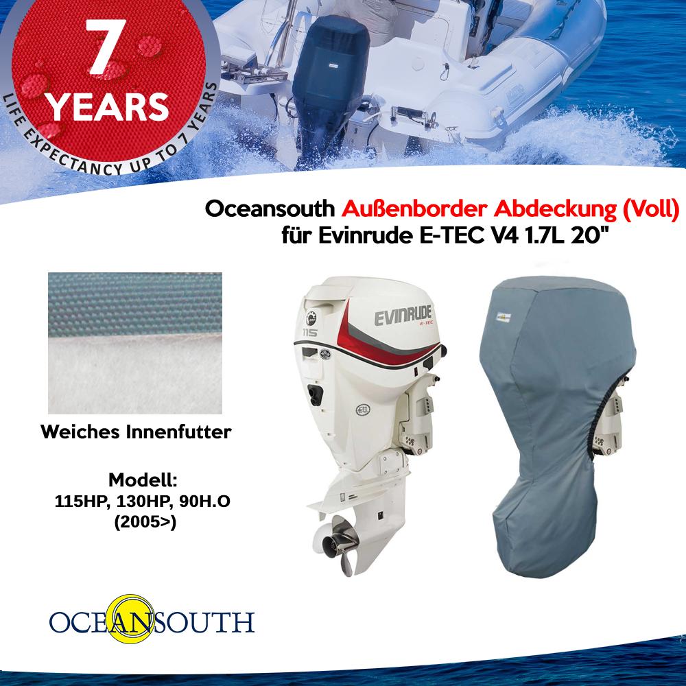 Oceansouth Außenborder Abdeckung (Voll) für Evinrude E-TEC V4 1.7L 20