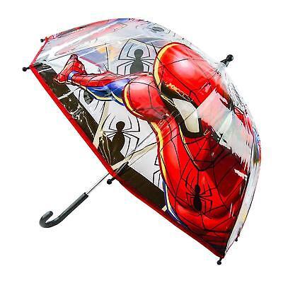 Marvel Spiderman Ombrello A Cupola Poe Bolle Trasparente Per Bambini Con Licenza Ufficiale-mostra Il Titolo Originale