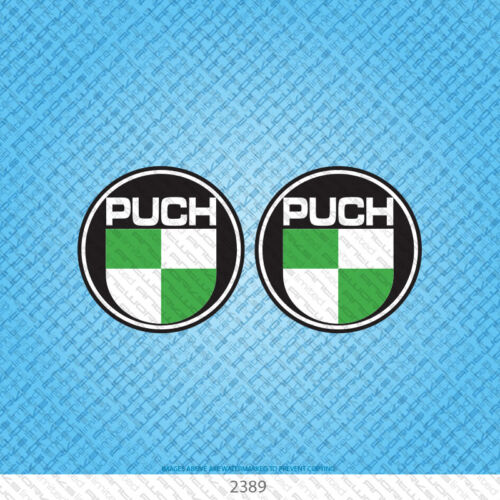 SKU2389-2 x Puch 73mm Classic Motorcycle Stickers Moped Scooter Bicycles