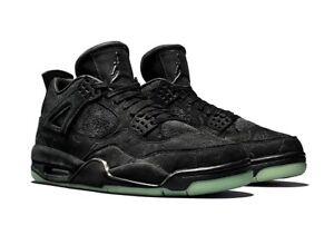 098578c0303 KAWS x Air Jordan 4 Retro Black/Black Clear Glow Size 12 Brand New ...