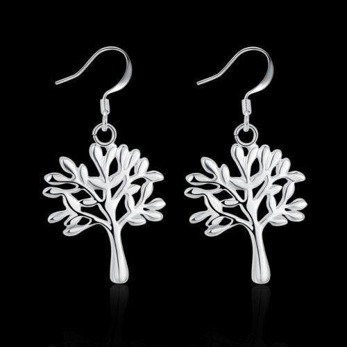 Pendientes de plata esterlina para De mujer árbol de la vida Charms DE PLATA PLATEADO