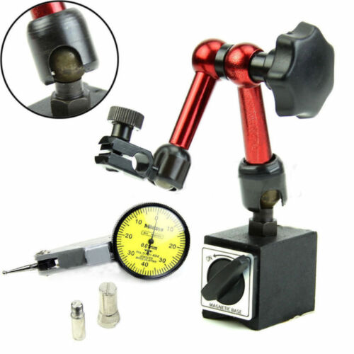 Dial Test Indicator Gauge Scale Precision Magnetic Flexible Base Holder Stand