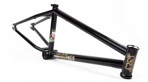 Ajuste las bicicletas Sleeper 20.75 Negro Marco de Bicicleta BMX Ethan Corriere firma 20.75