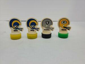 Lot-of-4-Vintage-1984-NFL-Rubber-Stamps