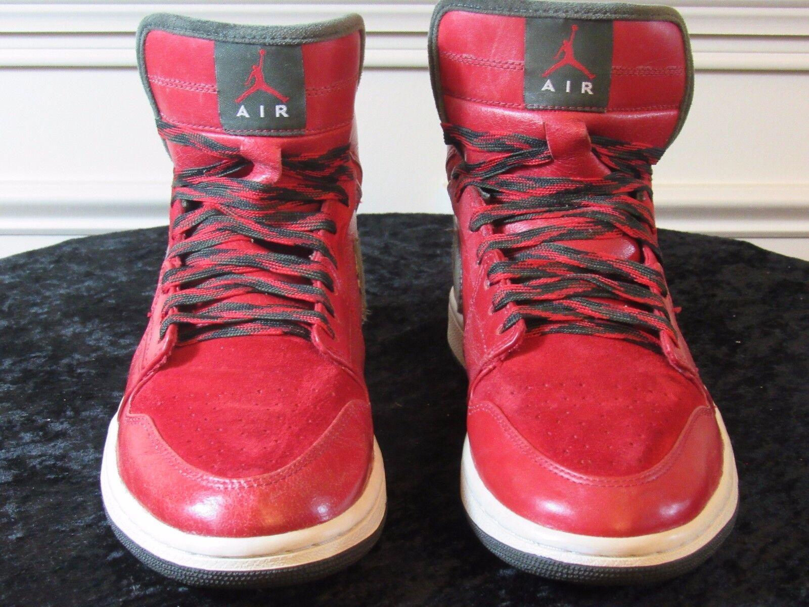 NIKE Air Jordan 1 Retro I Hi Premier 332134-631 Red Dark Army Size 10.5 US