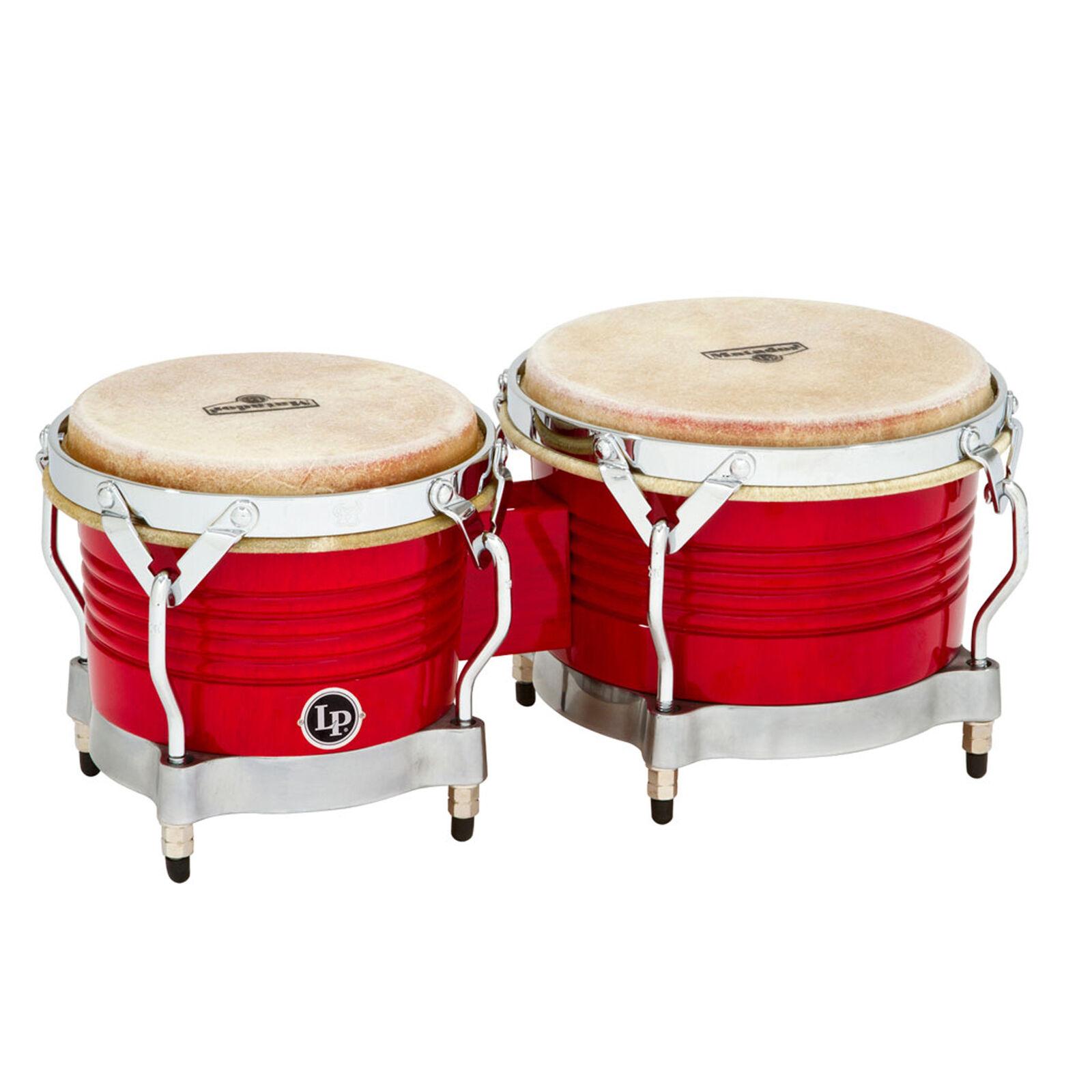 Latin Percussion LP Matador Wood Bongos rot Chrome Hardware