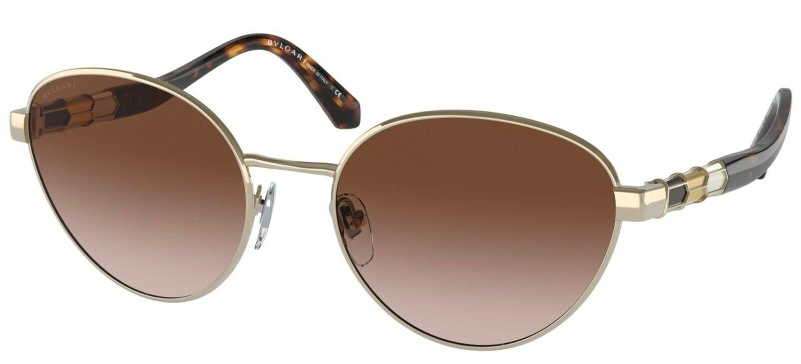 Bvlgari SERPENTI BV 6155 Pale Gold/Brown Shaded (278/13) Sunglasses