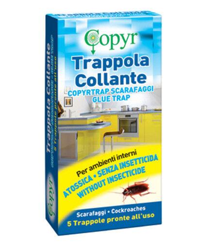 """Trappola esca con colla per scarafaggi 5 pezzi per interni COPYR """"Copyrtrap"""""""