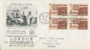 CANADA-1966-London-Conference-addressed-FDC-JD2243