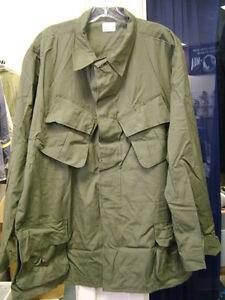 8c520fad9ec US ARMY Coat SLANT POCKET SHIRT POPLIN OG-107 VIETNAM WAR OLIVE ...