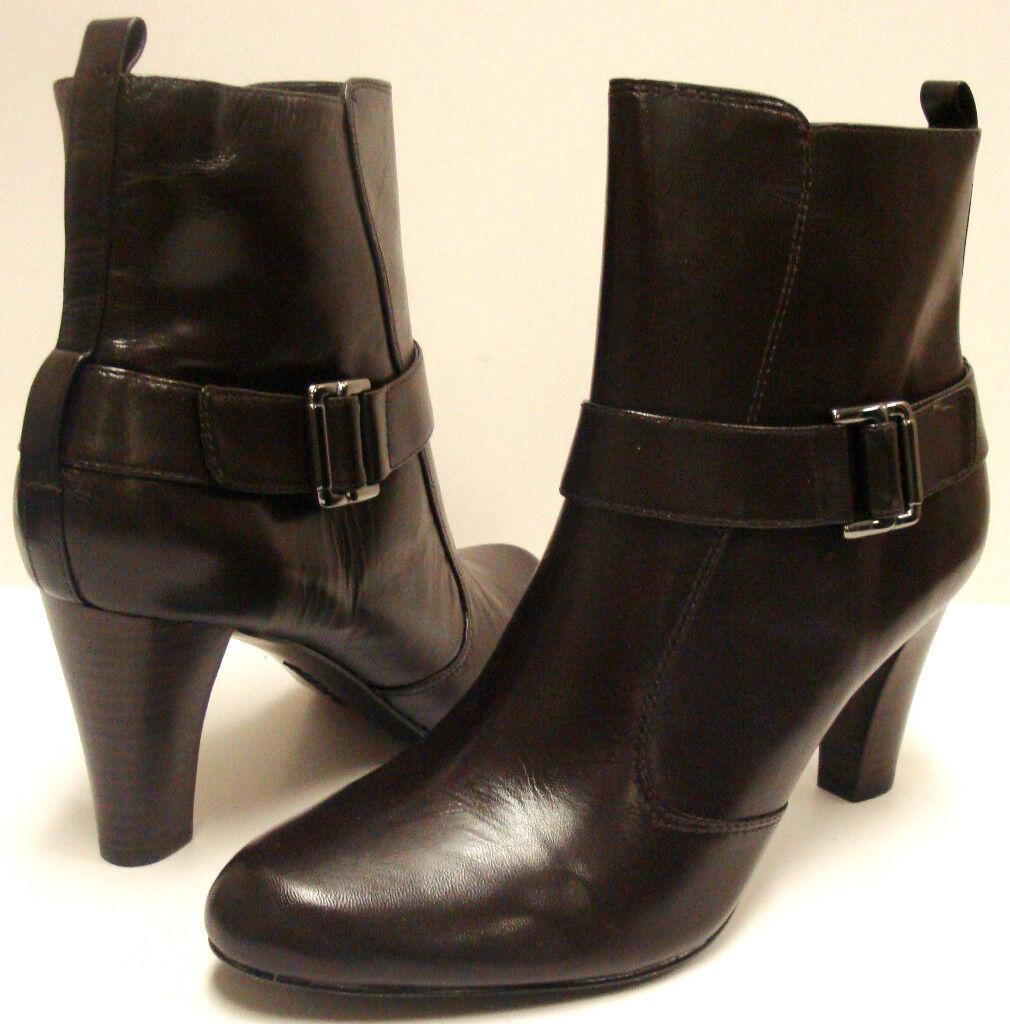 NIB Stunning Alfani  Lina  Dark Brown Ankle Boots sz 8 - Very Nice