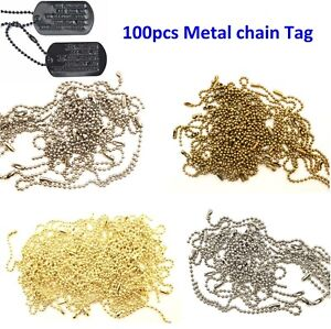 10-15cm-Metal-Ball-Chain-with-Connector-Clasp-String-for-Keychain-Tags-100pcs