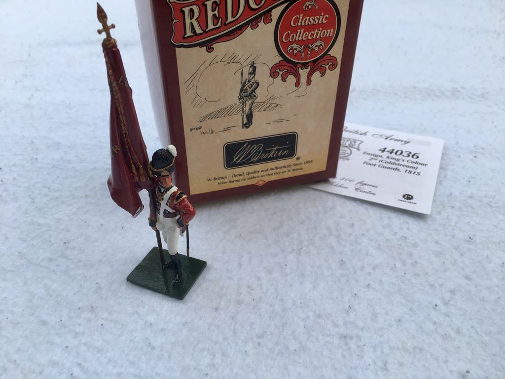 William Britains 2nd Coldstream Foot Guards Ensign, King's Colour 44036 Box