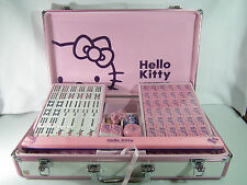 Hello Kitty Mahjong Set Regular Size with Tablecloth Aluminium Case by EastKing