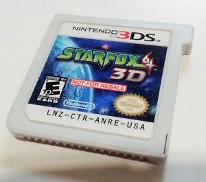 Star-Fox-64-3D-Demo-Cart-Nintendo-3DS-Not-For-Resale-NFR-Retailer-Kiosk