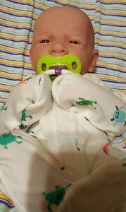 "BABY BOY!PRECIOUS PREEMIE 14/"" REBORN LIFELIKE FIRST YAWN BERENGUER DOLL W EXTRAS"