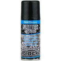 Black Glitter Effect Colour Spray Can Paint Decorative Creative Crafts 200ml
