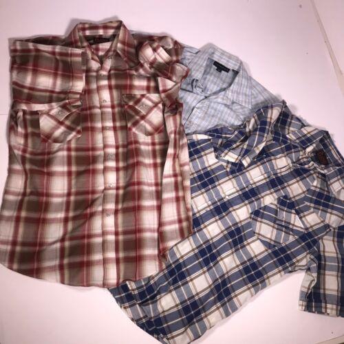 tartan camicie a maniche Panhandle lunghe di Lotto 3 Western medio Plains fe04 in Eqwx0WC
