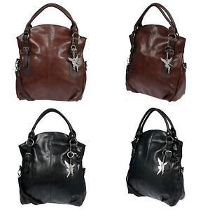 Große Damen Tasche Schultertasche Umhängetasche Leder Optik Bag Handtasche