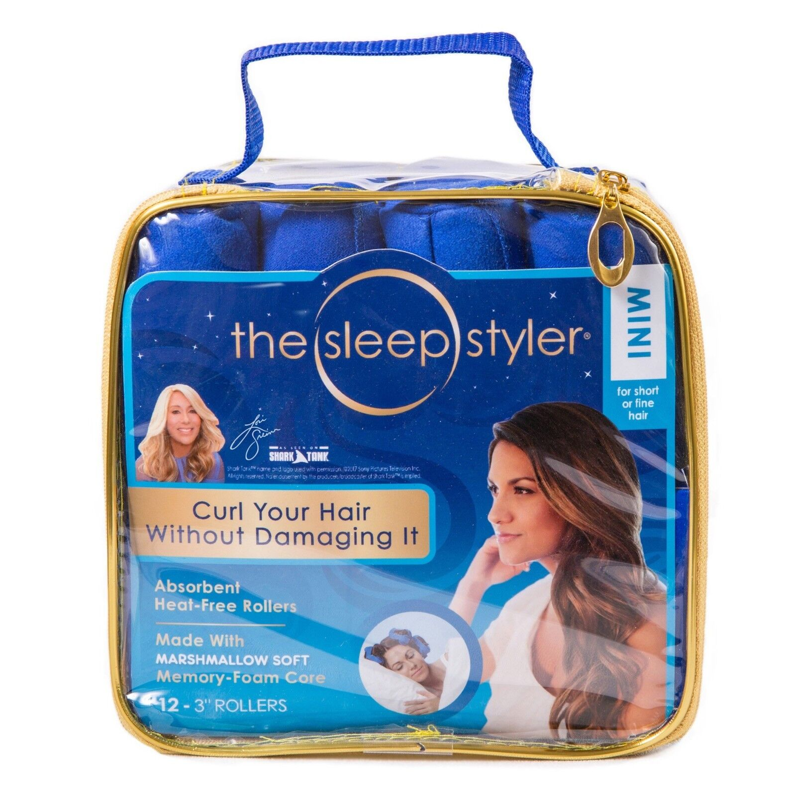 Sleep Night time Styler Hair NIP12 Curlers for Short or Long Fine Heat- Rollers