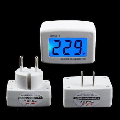 110V/220V Digital AC Voltmeter 80-300V Voltage Factory Switch America Flat PLUG