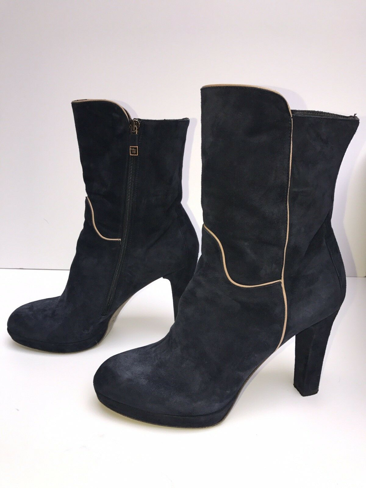 Previously Owned (barely) Alberto Fermani FE9246 FE9246 FE9246 bluee Suede Boot – WORN ONCE - S 96a2ed