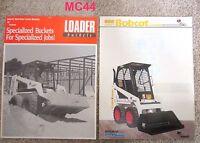 Bobcat Loader & Loader Buckets Dealer Sales Brochures (2)