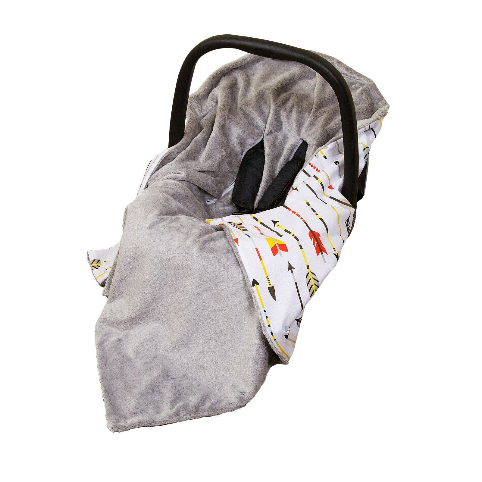 Unique Double Sided CAR SEAT WRAP Grey White