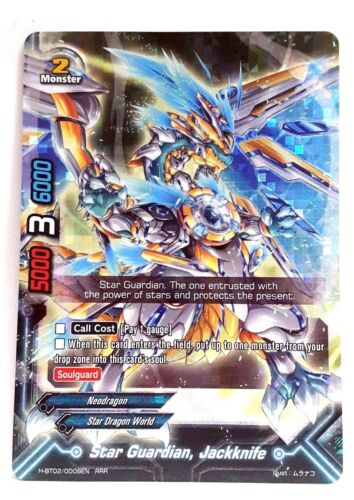 Jackknife H-BT02//0008EN RRR Bushiroad Future Card Buddyfight Star Guardian