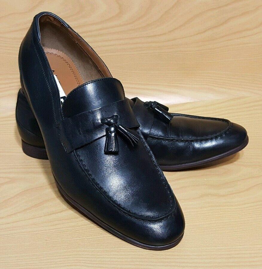 Aldo Black Loafers Tassel Mens Casual Dress shoes 12