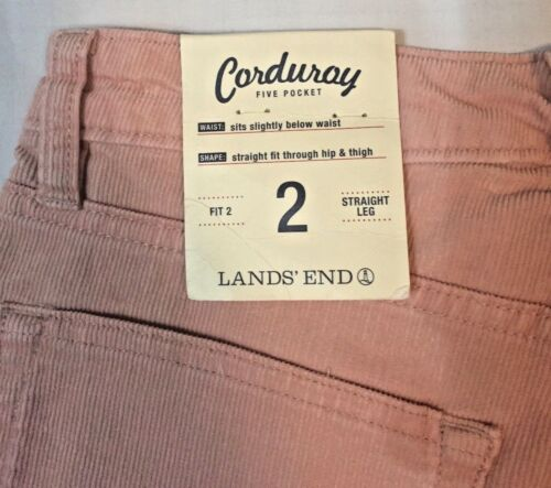 di gamba velluto nuovi Lands a etichetta 'End con Pantaloni taglia cosciale 2 a a dritta da donna 5zqWXfw