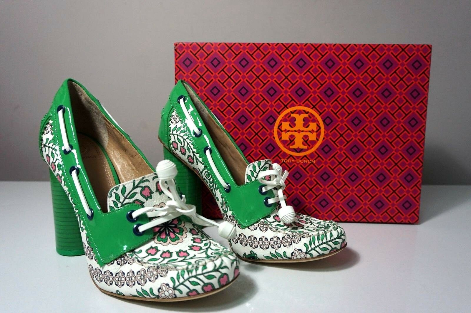Tory Burch Garden Party Fisher 110mm Loafer Pump Size 8.5