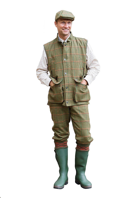 Sherwood Forest Tweed Windsor Breeks hunting shooting wear Moss Olive Burnt Or