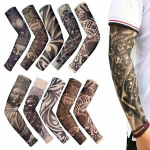 10-pcs-Tattoo-Cooling-Arm-Sleeves-Cover-Basketball-Golf-Sport-UV-Sun-Protection