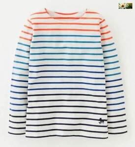 Mini-Boden-boys-stripe-Mariner-Breton-ombred-age-6-10-white-red-blue-shirt-top