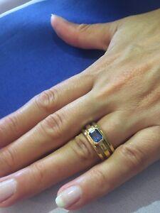 Tiffany-amp-Co-Atlas-18K-Gold-1-26-ct-Blue-Sapphire-Ring-Paperwork