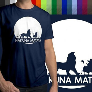 Disney-Lion-King-Hakuna-Matata-Funny-Unisex-Mens-Crew-Neck-100-Cotton-T-Shirt